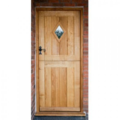 BR04 Cottage Stable Door with Frame and diamond window