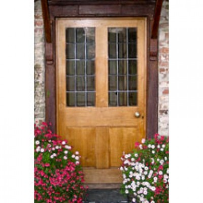 BR12 Two Pane Panel Door and Frame