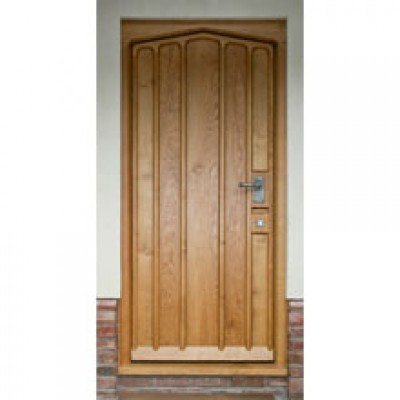 BR15 Arched Head Insulated Door and Frame with muntins