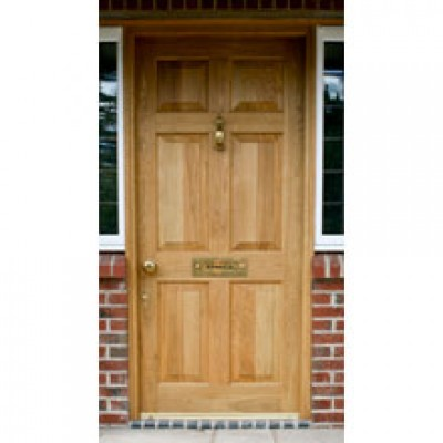 BR17 Solid Georgian Panel Door and Frame