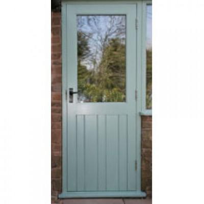 BR06 Framed Ledged and Boarded Cottage Oak Door with Frame