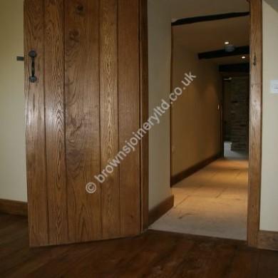 Stained Oak Plank Door