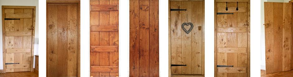 Triple Plank Oak Doors