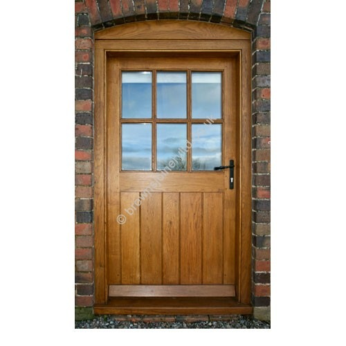 br14 framed ledged and boarded oak door with frame - Door With Frame