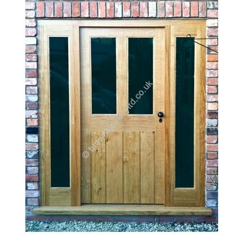 BR20 Oak Door Frames With Sidelights
